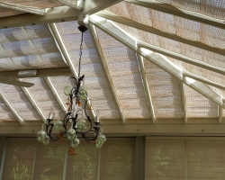 Motorised Pinoleum Blinds in Conservatory Roof
