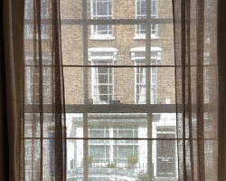 Sheer Roller Blind with Curtains