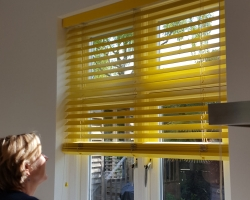 Vivid Yellow Venetian Blind
