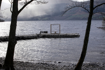 Frame Bench in front of Loch Tay by Angus Ross Furniutre