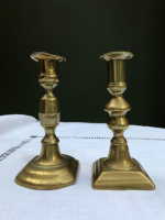 Pretty Pair of 16cm-high Brass Candlesticks