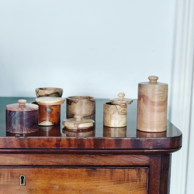 Turned Wood Pots