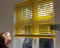 Vivid Yellow Venetian Blind