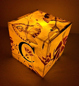 Glowing loose cube made-to-order in any letter