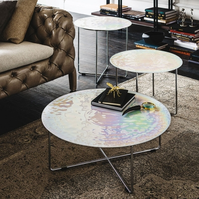 Cattelan Italia Pearl Top Side Table - SOLD