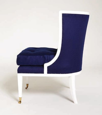 Carrig Chair in White Lacquer 400 wide