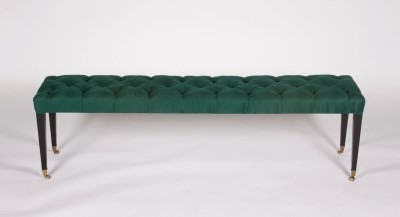 Georgian Bench green by Virginia White