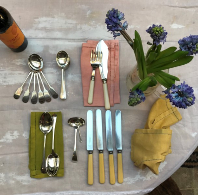 Handsome Antique Cutlery Sets.  Click this image to find a selection of sets available via The Interiors Shop.