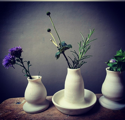 Porcelain Bud Vases hand thrown by Jacqui Roche
