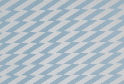 Zig Zag China Blue Fabric by Virginia White