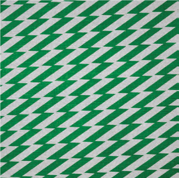 Zig Zag Green Fabric by Virginia White