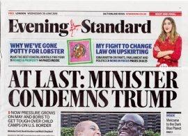 Evening Standard 20th June 2018