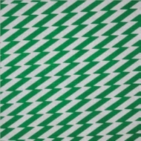 Zig Zag Green on Natural