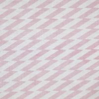 Zig Zag Pink on Natural