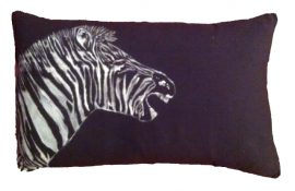 mono zebra cushion cover