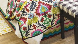 Lined Double Bed Throw