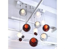 Bocci Series 28 Pendant Lights – Ruby Coloured Glass
