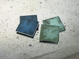 Antique mirror glass coasters