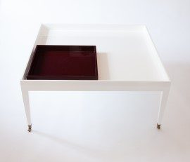 Large Tray Top Table with Tray Insert