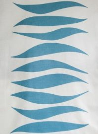 Sky Blue WAVES fabric